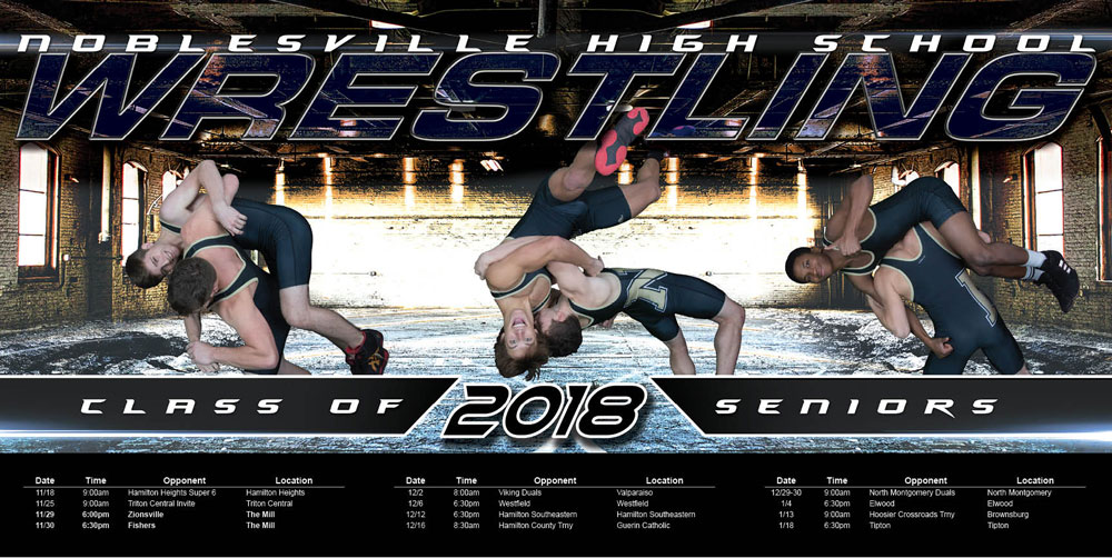 High School Wrestling Poster Composite